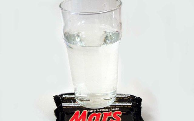 de l'eau sur mars : histoire drole